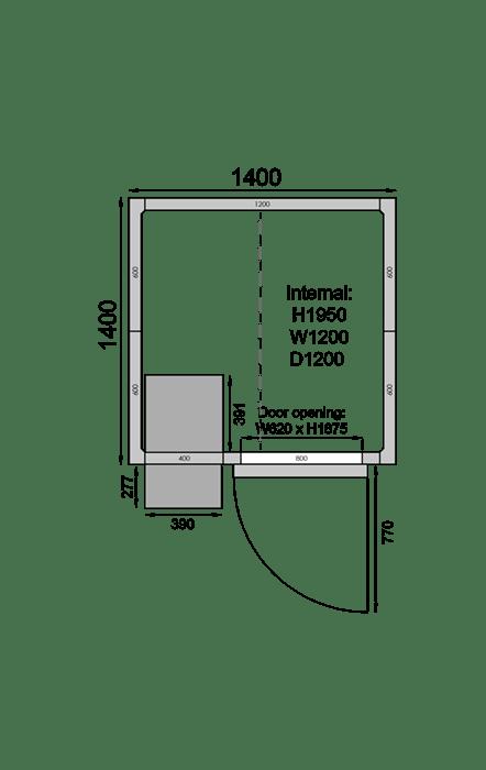 CR1414C | Холодильная камера
