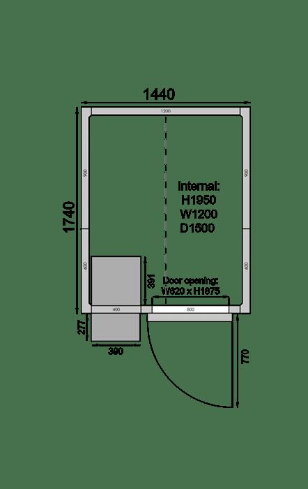 CR1417F | Холодильная камера