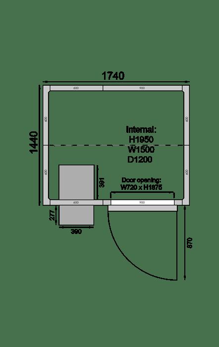 CR1714F | Холодильная камера