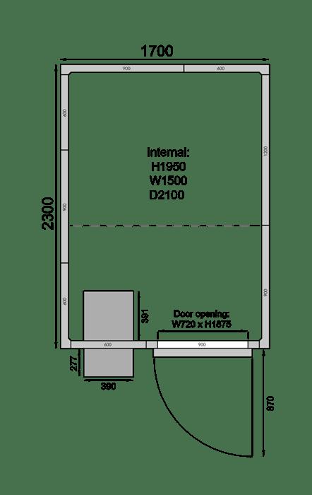 CR1723C | Холодильная камера
