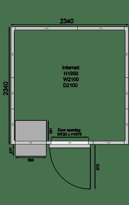 CR2323F   Холодильная камера